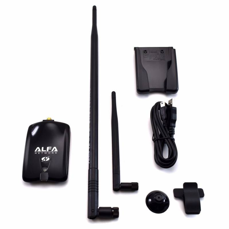 Alfa AWUS036NHA Wireless N USB Adapter Atheros AR9271L + 9dBi Antenna +  U-Mount (AWUS036NHA-N19)