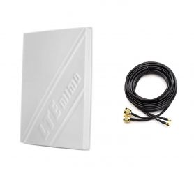 3G/4G LTE 14dBi Outdoor Panel Antenna 800-2600MHz + Duplex Cable Gold 10m