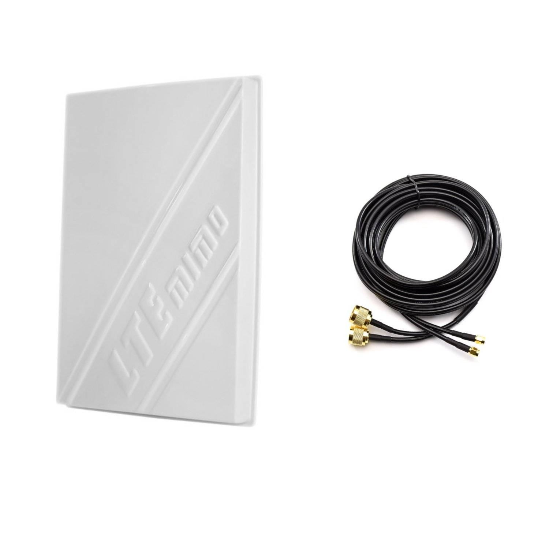 OEM 3G/4G LTE 14dBi внешняя панельная антенна 800-2600МГц + двойной кабель...