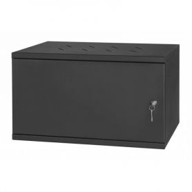 "Rack Cabinet 19"" 6U, 350MM Full Door, Black"