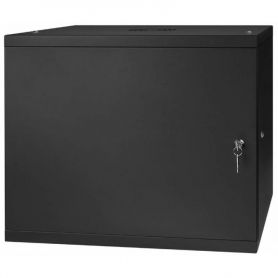 "Rack Cabinet 19"" 9U, 450MM Full Door, Black"
