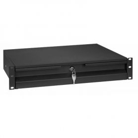 "Rack Drawer 19"" 2U Black"