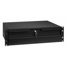 "Rack Drawer 19"" 3U Black"