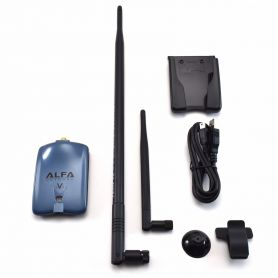 Alfa AWUS036NHV Wireless N USB Adapter + 9dBi Antenna + U-Mount