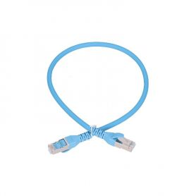 Cat.6a Patch Cable 0.5m blue